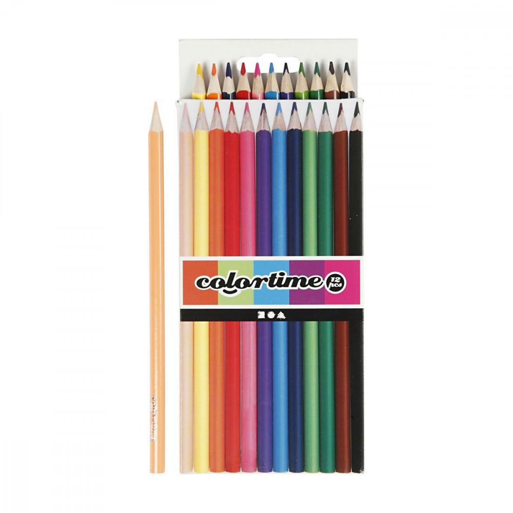 Kleurpotloden - Basiskleuren, 12st.