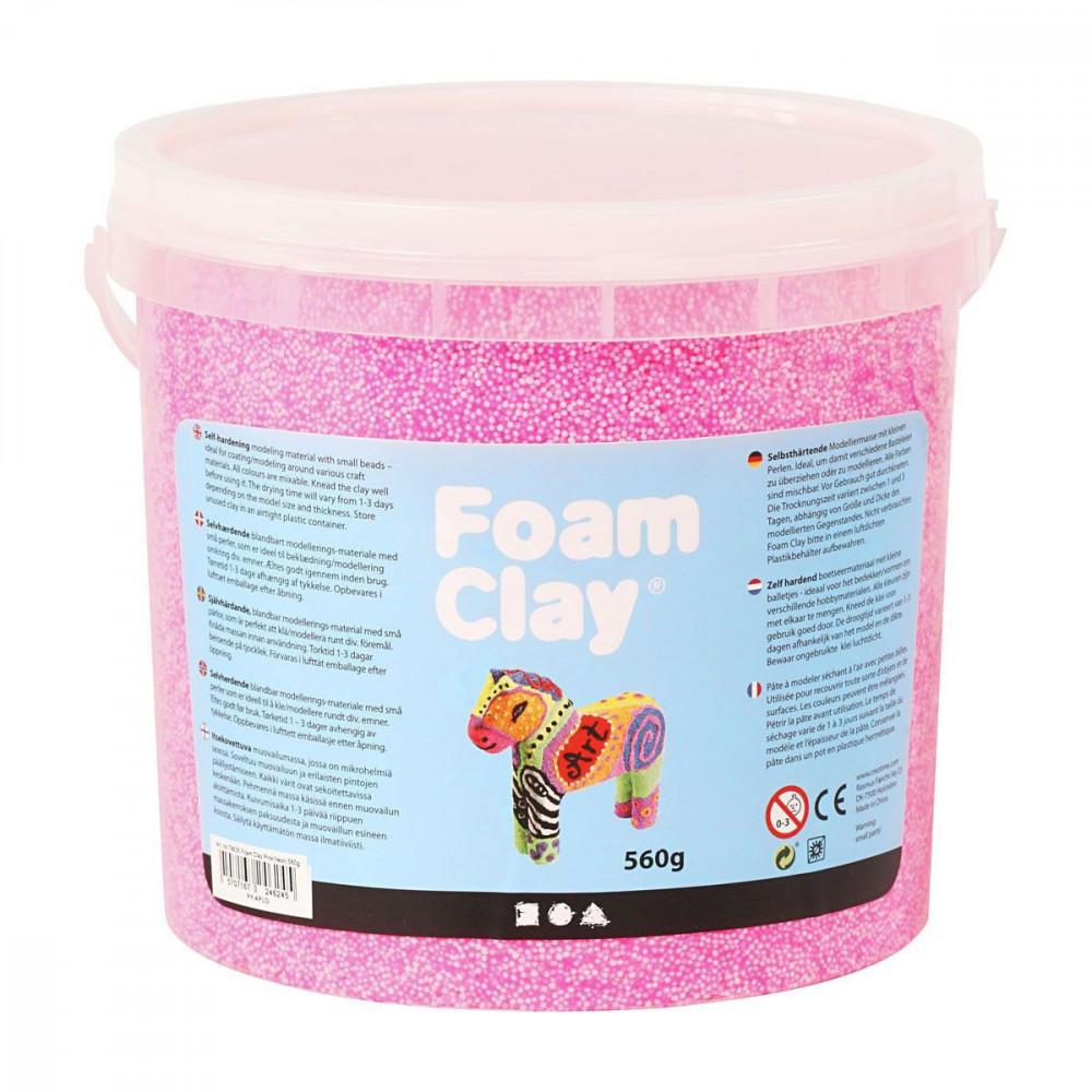 Foam Klei - Neon Roze, 560gr.