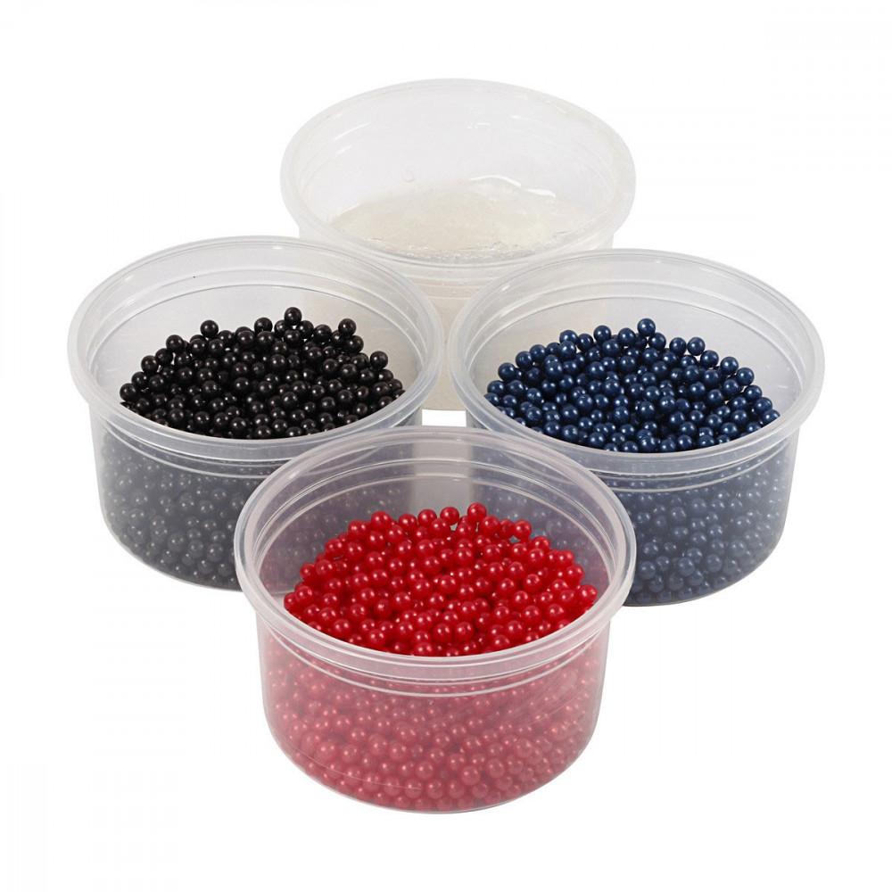 Pearl Clay Set - Blauw, Rood, Zwart