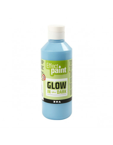 Glow in the Dark Verf - Lichtblauw,...