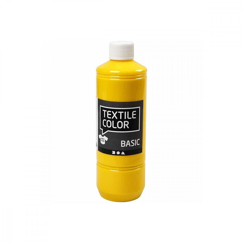 Textielverf - Primair Geel, 500ml
