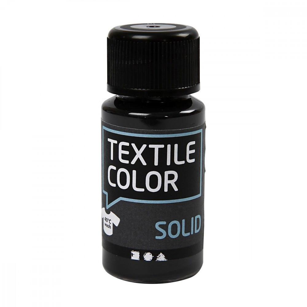 Dekkende Textielverf - Zwart, 50ml