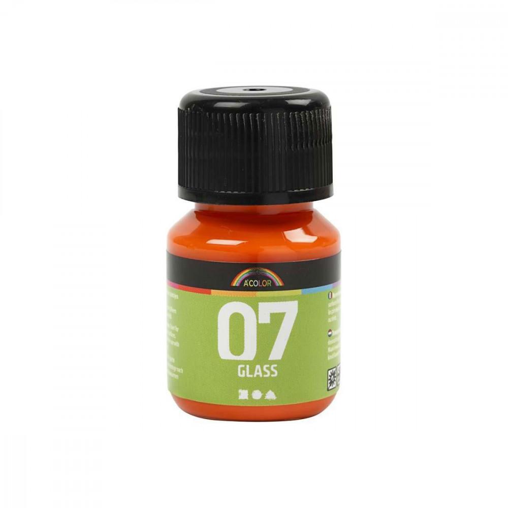 Permanente Glasverf - Oranje, 30ml
