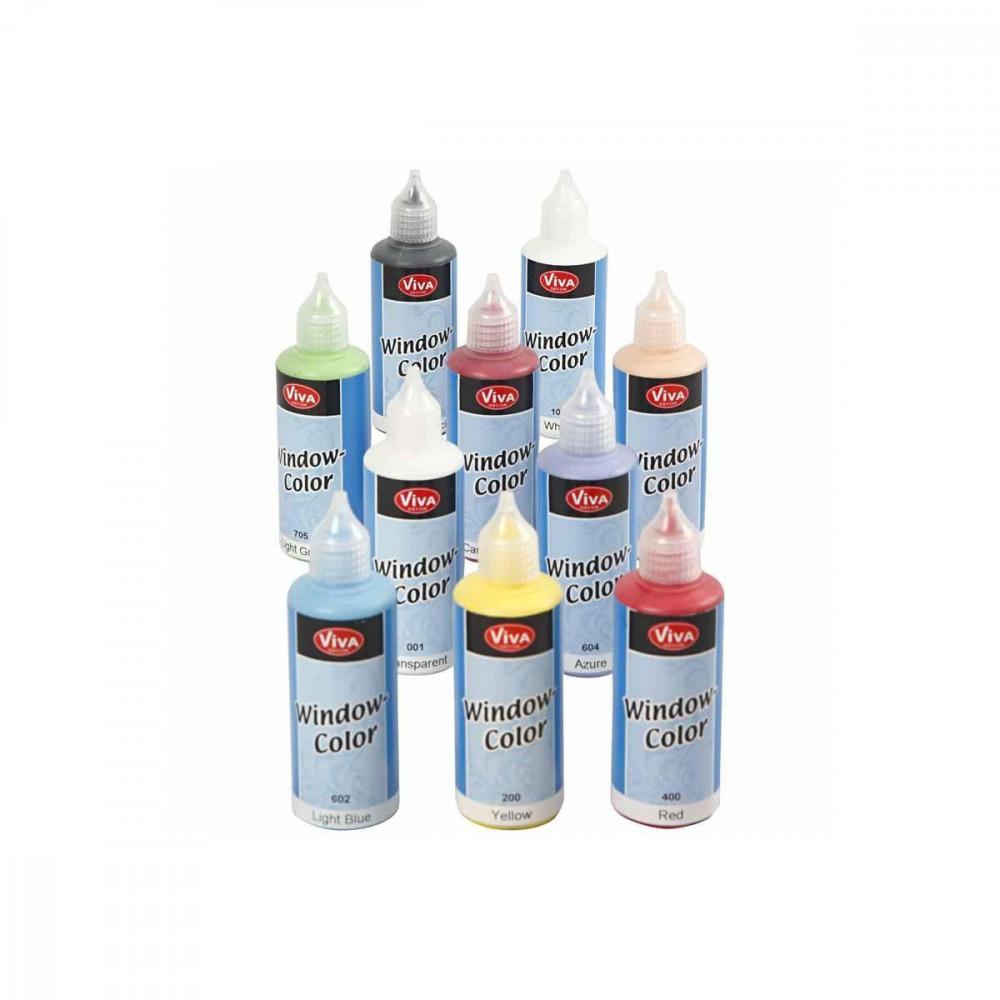 Sticker- en Glasverf - Set van 10 Kleuren, 80ml