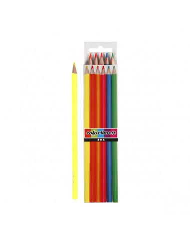 Driehoekige Kleurpotloden - Neon, 6st.