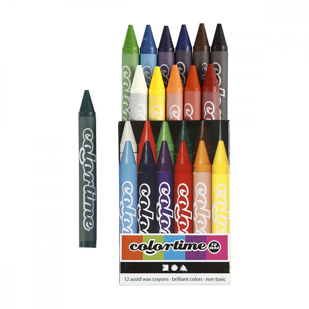 Set met Kleurkrijt, 12 Kleuren