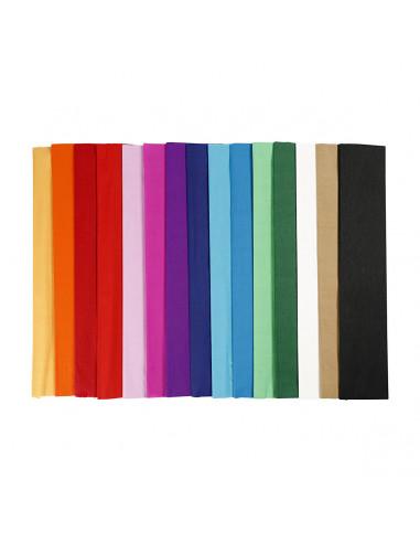 Crepepapier - Basiskleuren, 15st.