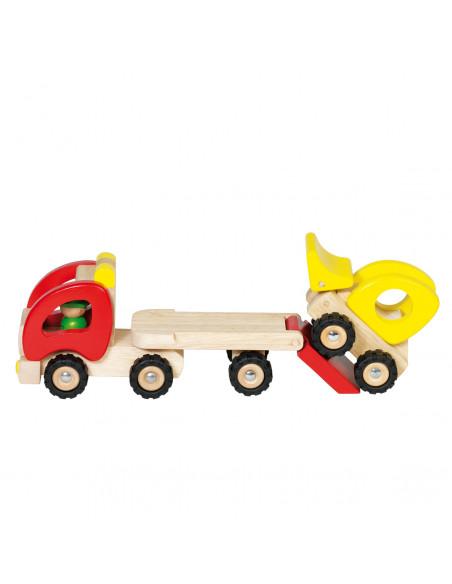 Houten Vrachtwagen Dieplader