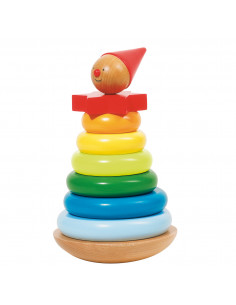 Houten Stapeltoren Clown, 8dlg.