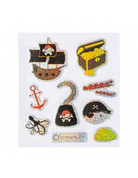 Stickers Piraten Glinsterend