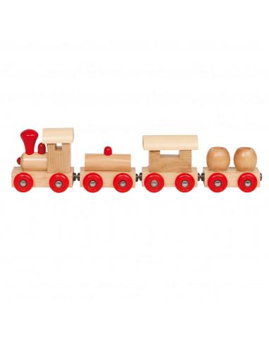 Houten Trein met Wagons