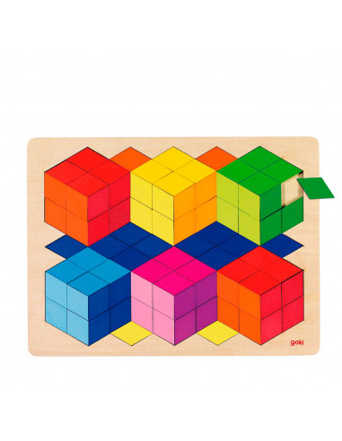 Houten 3D Puzzel - Kleur
