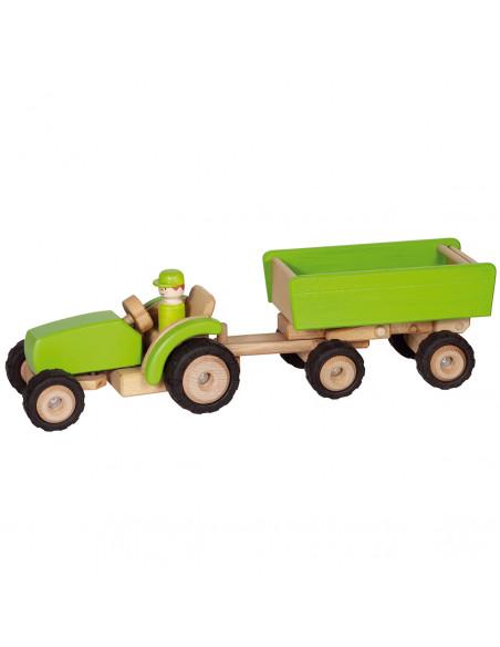 Houten Tractor met Aanhanger