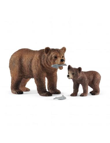 Schleich Vrouwelijke Grizzlybeer met...