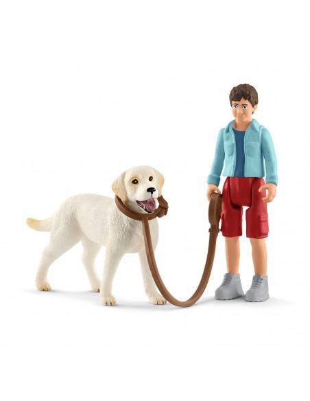 Schleich Wandeling met Labrador Retriever