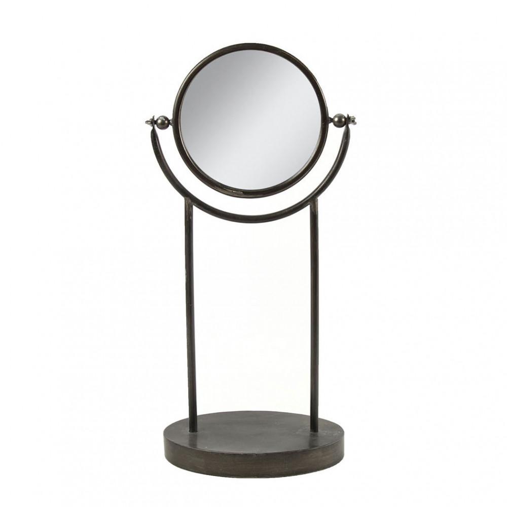 Spiegel Brian op Voet Zwart, 50cm