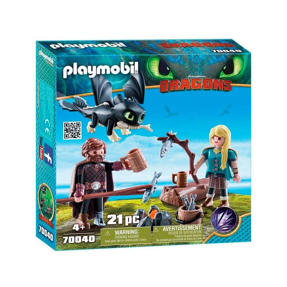 Playmobil Dragons 70040 Hikkie en Astrid Speelset