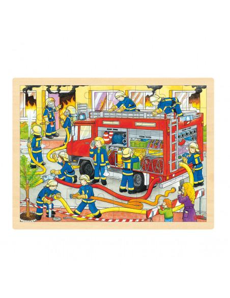 Houten Legpuzzel - Brandweer, 48st.