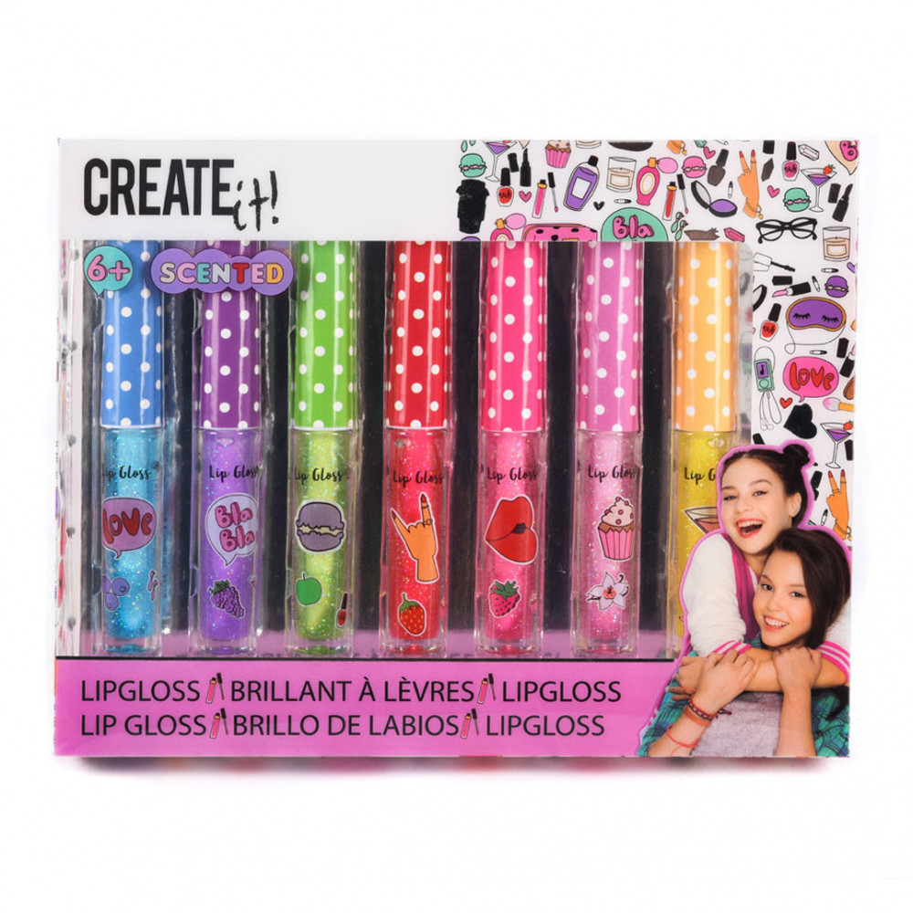 Create It! Lipgloss Geur & Glitter, 7st.