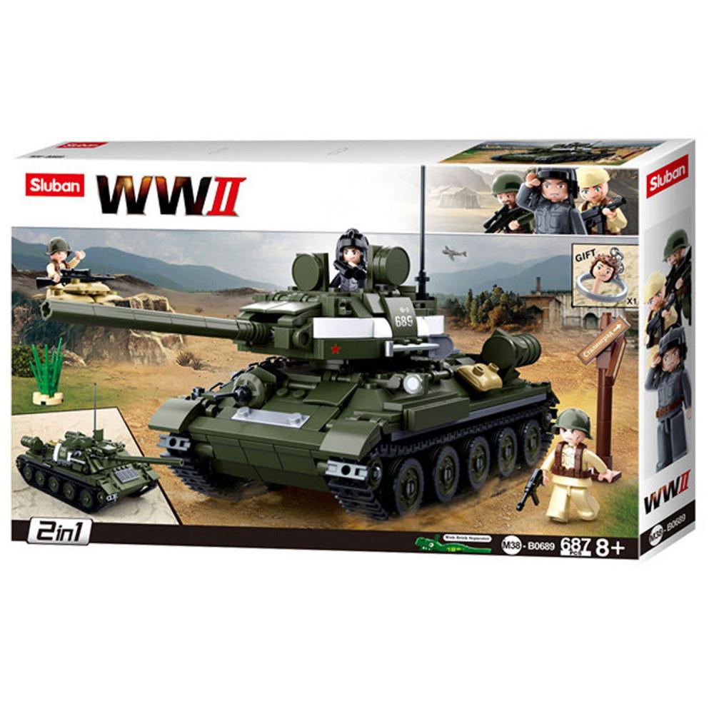 Sluban WWII T34 84 Geallieerde Tankjager