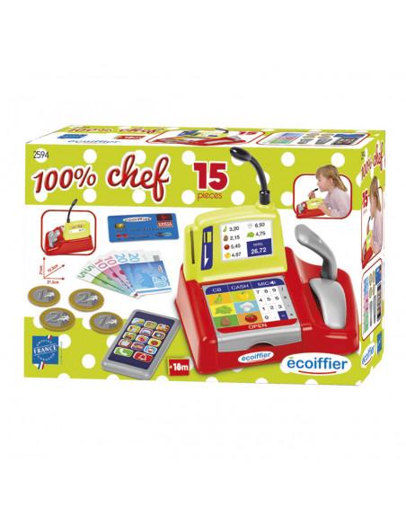 Ecoiffier 100% Chef Kassa met Smartphone