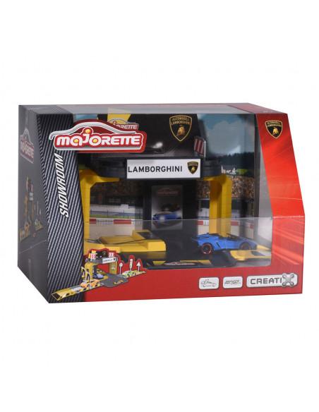 Majorette Creatix Lamborgini Showroom met Auto