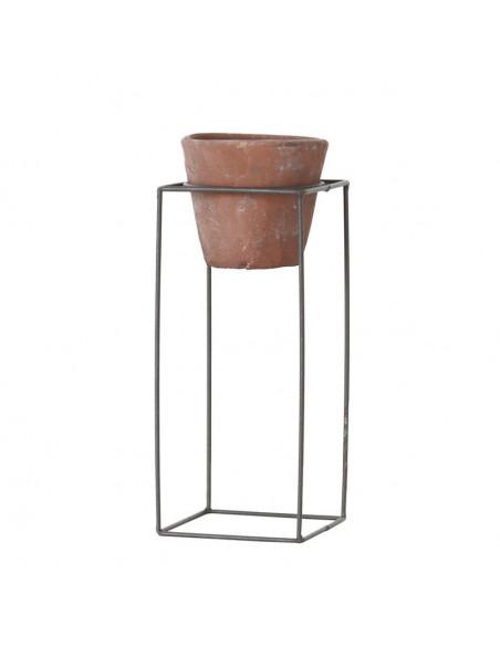 Terracotta Bloempot in Metalen Onderstel, 28,5cm
