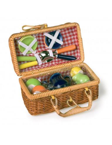 Picknickmand met Serviesgoed
