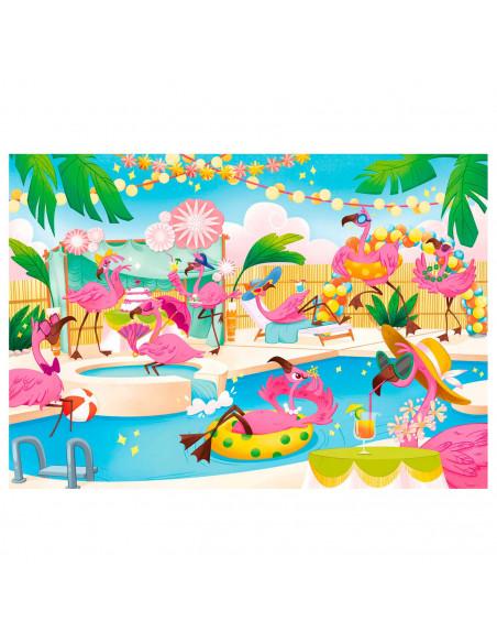 Clementoni Brilliant Puzzel Flamingo Party, 104st.