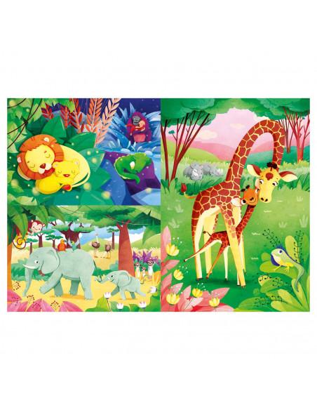 Clementoni Brilliant Puzzel Jungledieren, 3x48st.