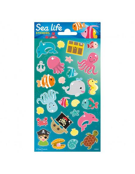 Stickervel Onderwaterwereld