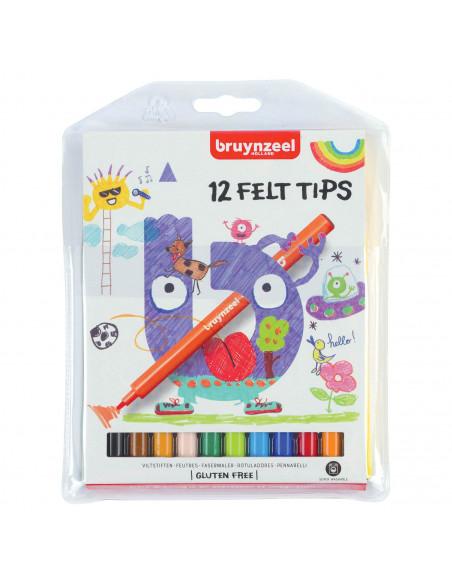 Bruynzeel Kids Viltstiften, 12st.
