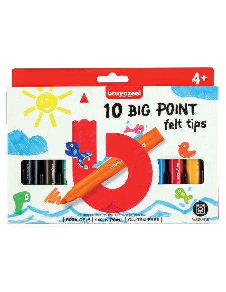 Bruynzeel Kids Big Point Viltstiften, 10st.