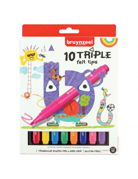 Bruynzeel Kids Triple Viltstiften, 10st.