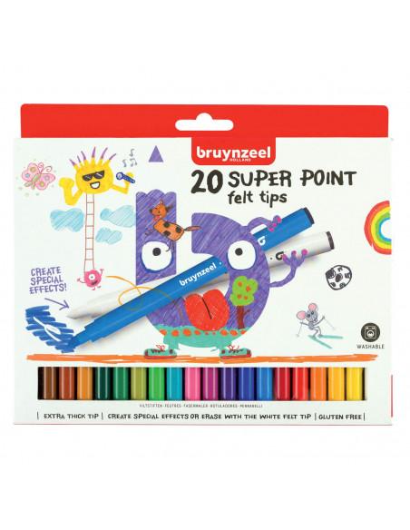 Bruynzeel Kids Super Point Viltstiften, 20st.