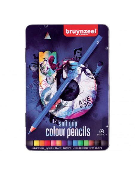 Bruynzeel Triple Soft Kleurpotloden Donker, 12st.