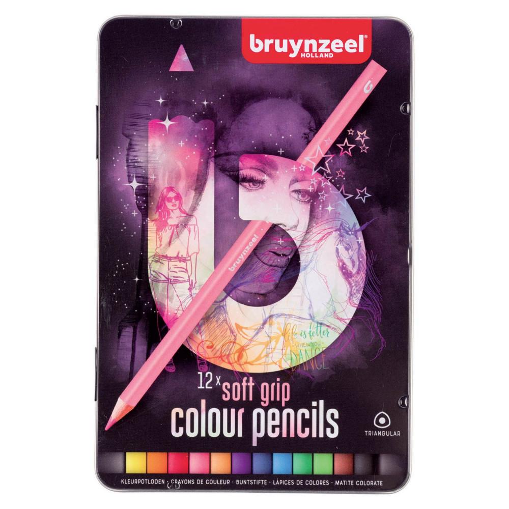 Bruynzeel Triple Soft Kleurpotloden Licht, 12st.