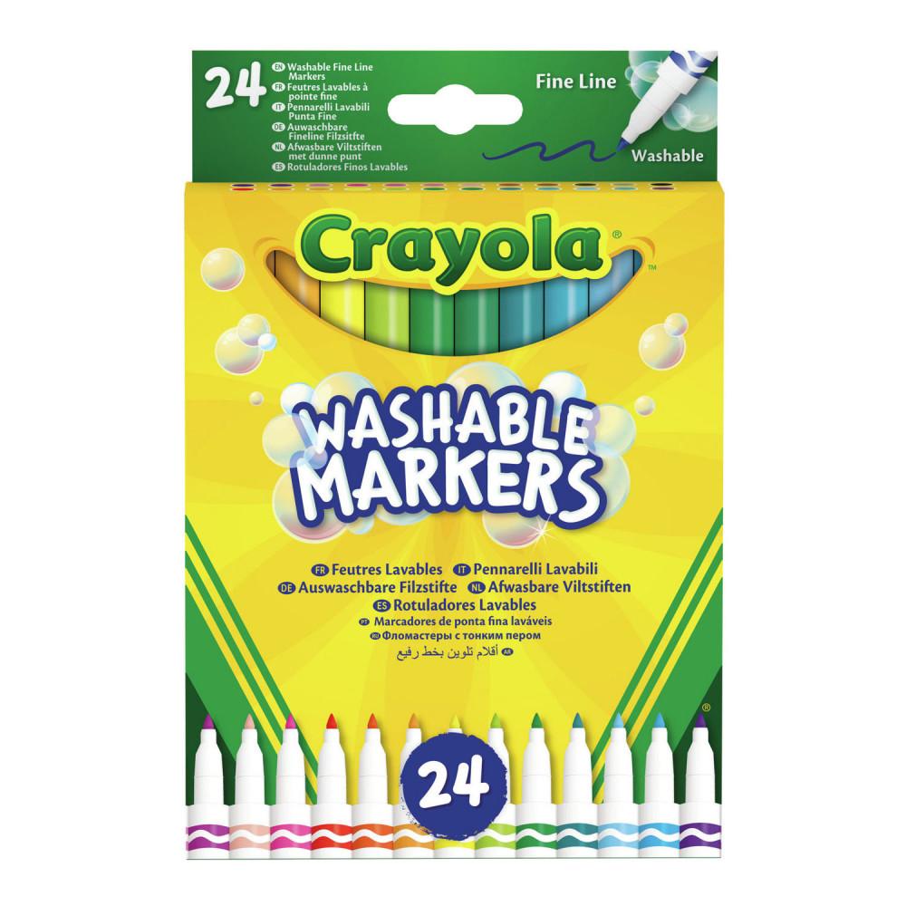 Crayola Viltstiften met Dunne Punt, 24st.