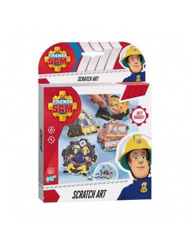 Totum Brandweerman Sam - Scratch Art Set
