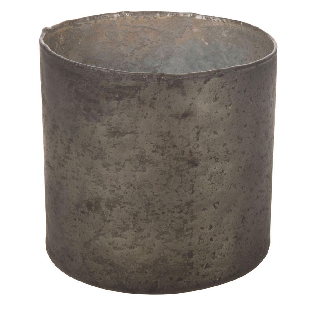 Waxinelichthouder Glas Zwart, 10cm