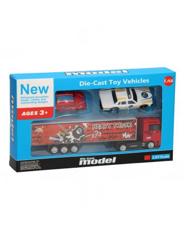 Die-Cast Vrachtwagenset - Rood