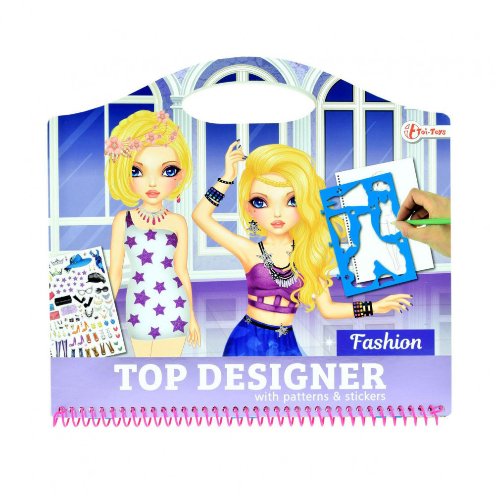 Schetsboek Fashion met Stickers en Sjablonen
