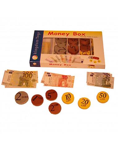 Doosje met eurogeld