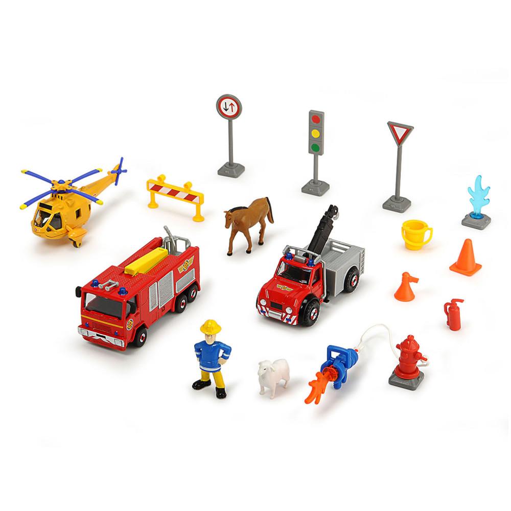 Brandweerman Sam Voertuigenset met Accessoires