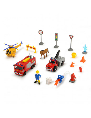 Brandweerman Sam Voertuigenset met...