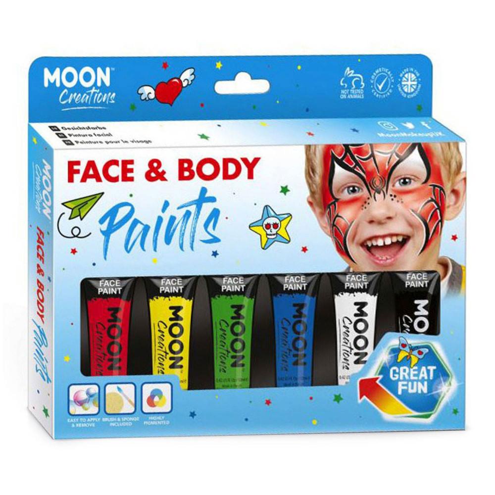 Face & Body Paint Verfset - Primaire Kleuren