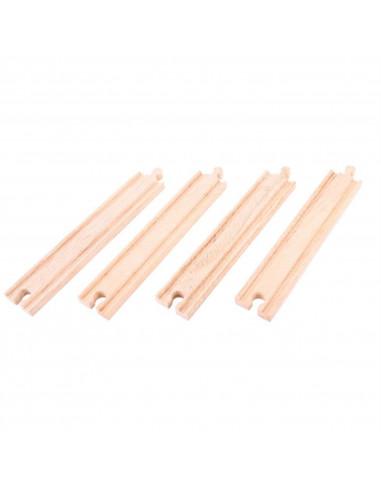 BigJigs houten Rails Recht Lang (4...