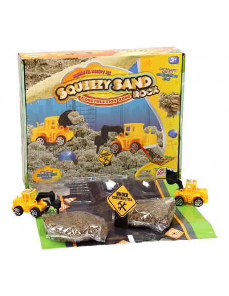 Squeezy Speelzand Werkvoertuigen