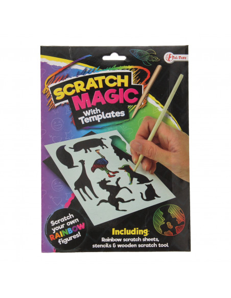 Scratch Set Regenboog Figuren