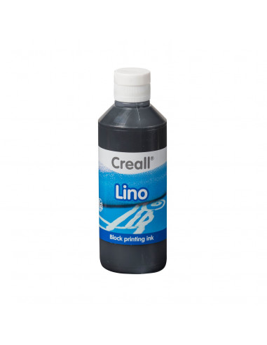Creall Lino Blockprintverf Zwart,...